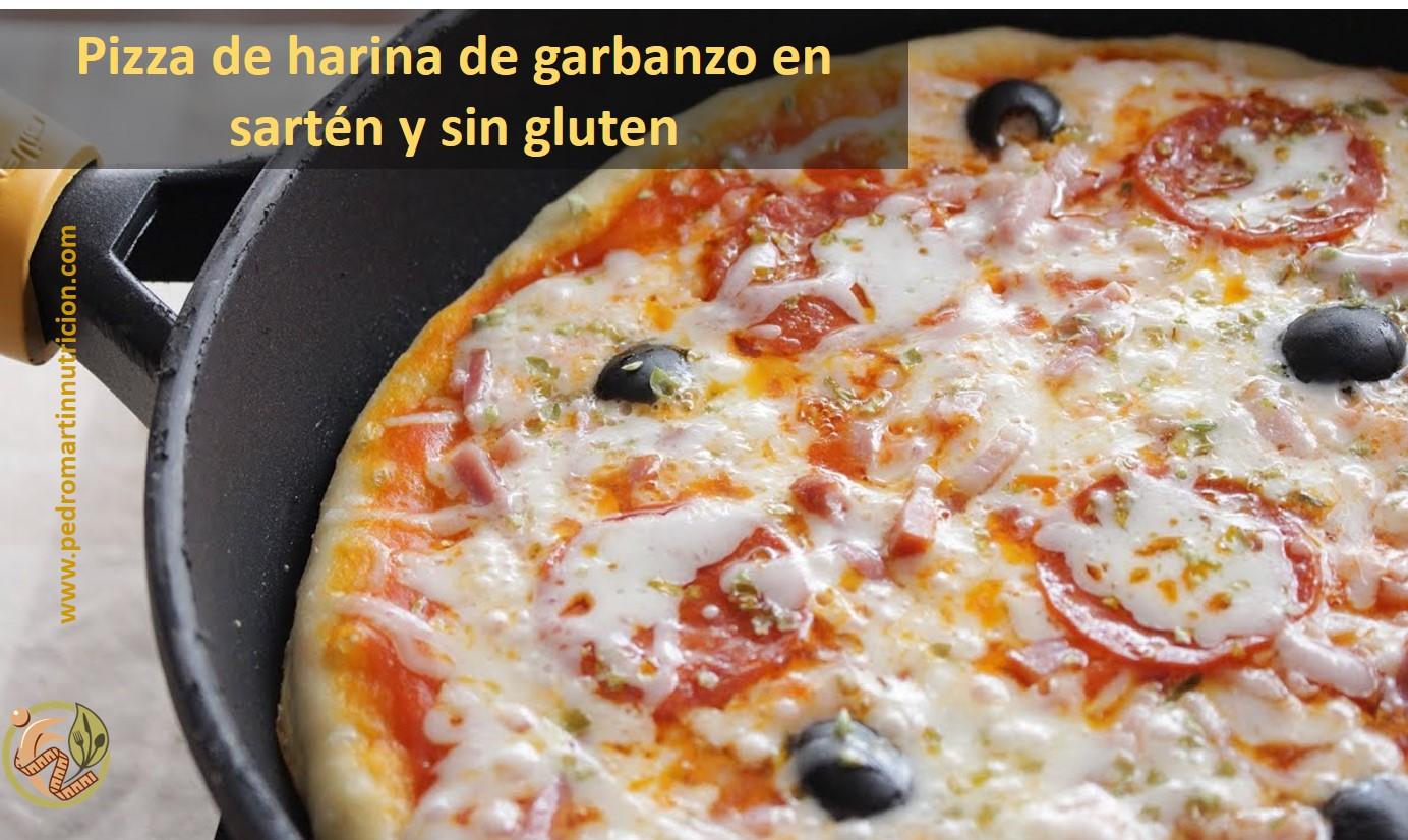 Receta de masa de pizza de harina de garbanzo sin gluten y sin horno