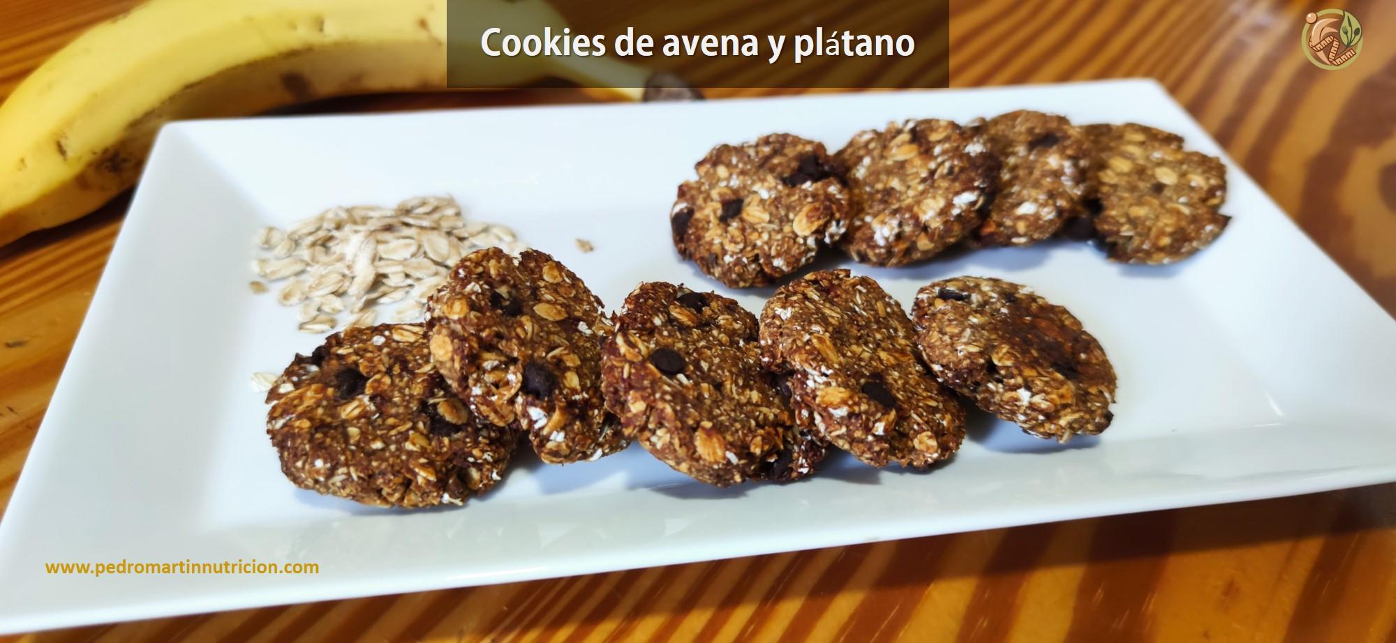 Cookies de avena y plátano