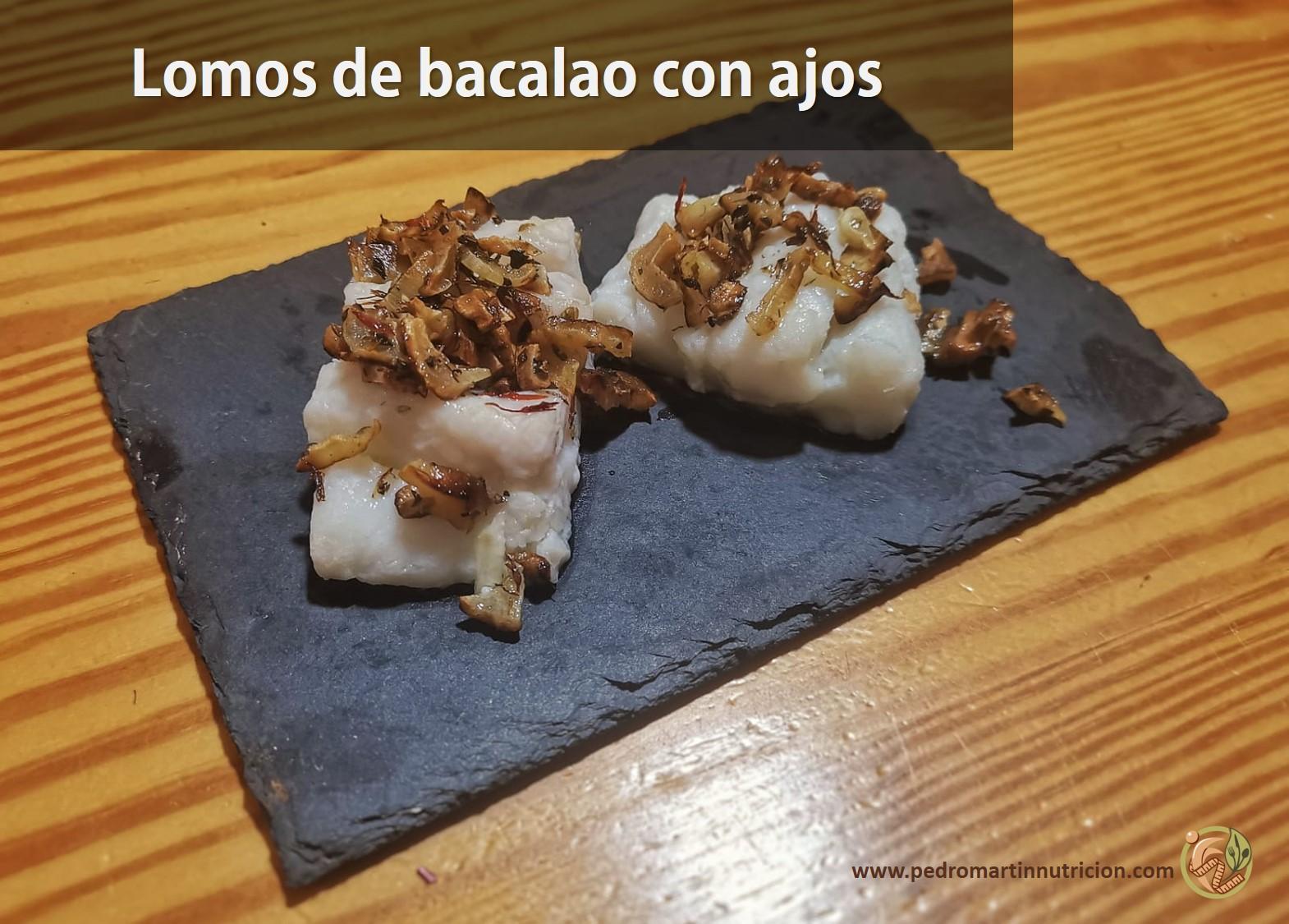 Receta de Lomos de Bacalao con ajos