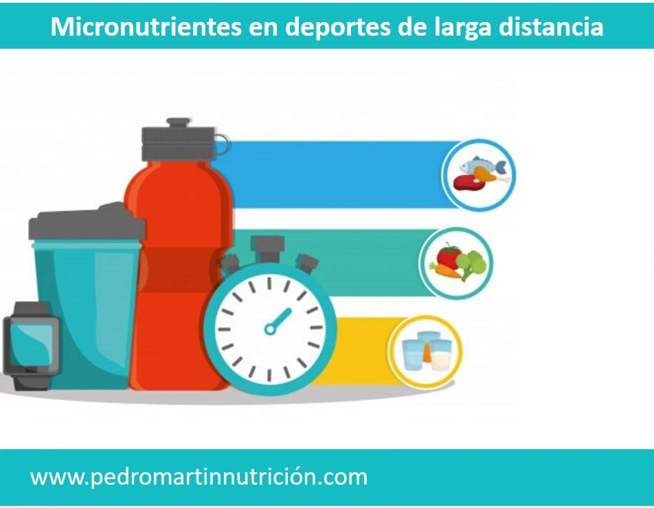 Deficiencias de micronutrientes más comunes en deportistas de larga distancia.